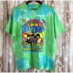 The Beatles Yellow Submarine tie-dye graphic tee